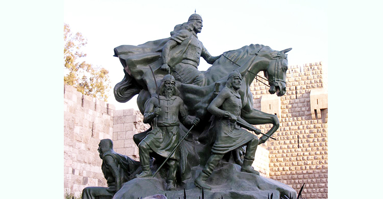 সিরিয়ায় সবচেয়ে বিখ্যাত ভাস্কর্য'স্ট্যাচু অব সালাদিন'